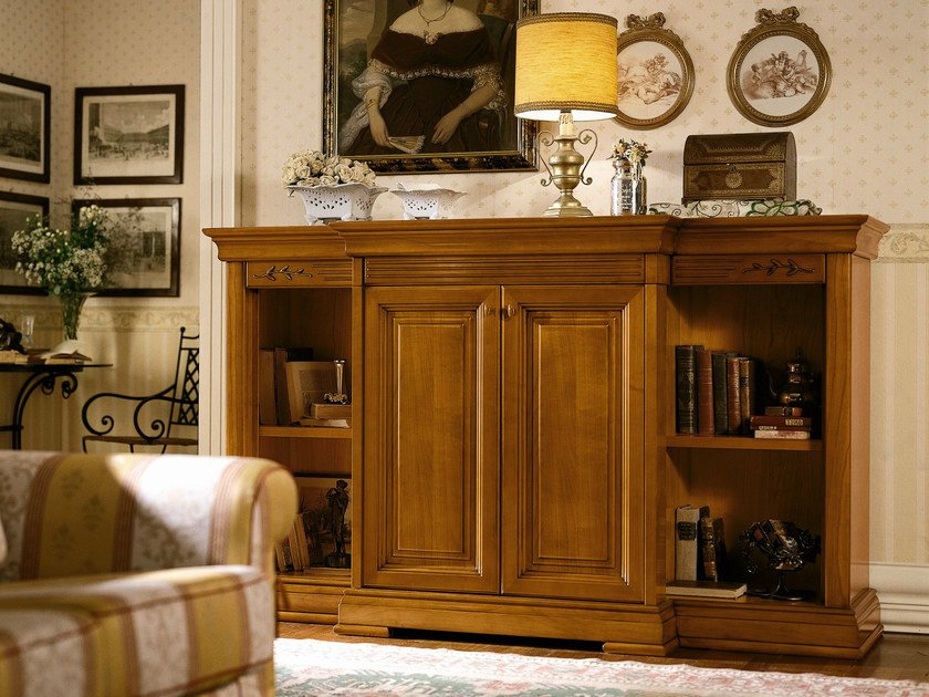 Cherry wood highboard with doors CHOPIN | Highboard with doors - Dall'Agnese