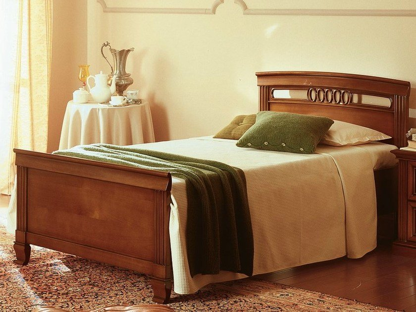 Cherry wood single bed VENEZIA | Single bed by Dall'Agnese