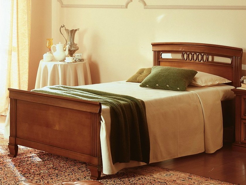 Cherry wood single bed VENEZIA | Single bed - Dall'Agnese