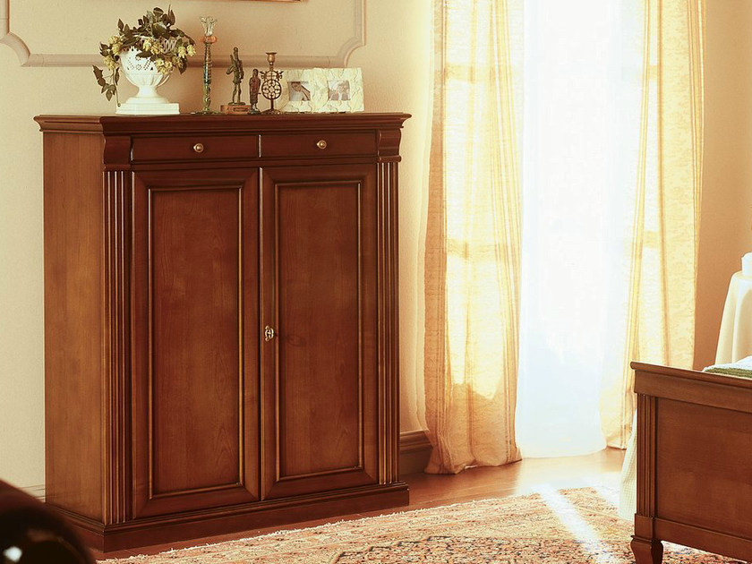 Low cherry wood wardrobe VENEZIA | Low wardrobe - Dall'Agnese