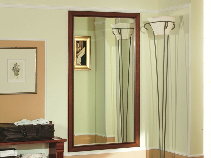 Wall-mounted cherry wood hall mirror VENEZIA | Hall mirror - Dall'Agnese