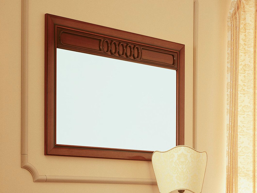 Wall-mounted cherry wood mirror VENEZIA | Mirror by Dall'Agnese