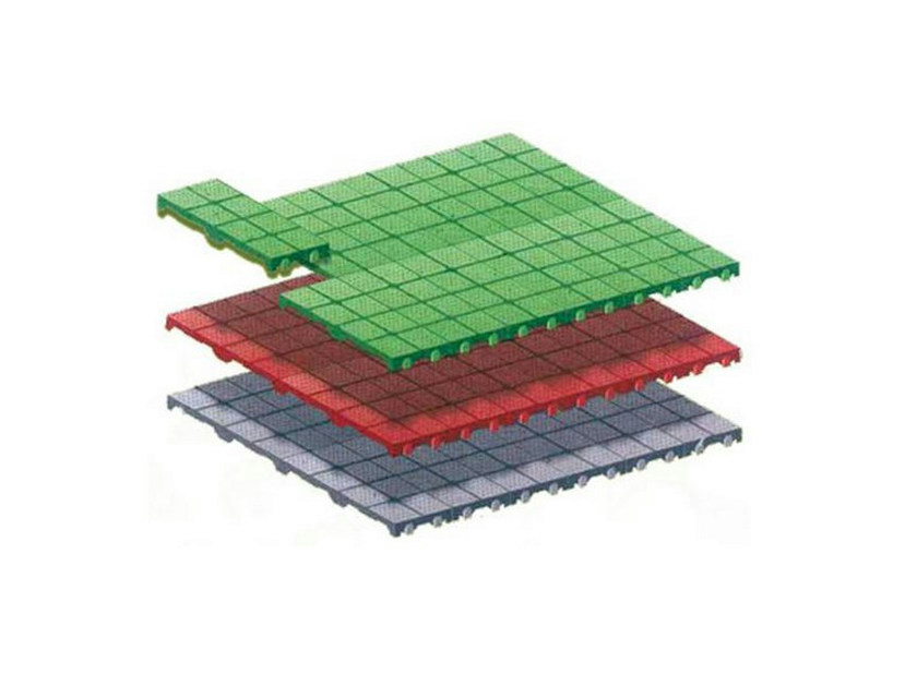 Plastic Outdoor floor tiles REC FLOOR - PROJECT FOR BUILDING
