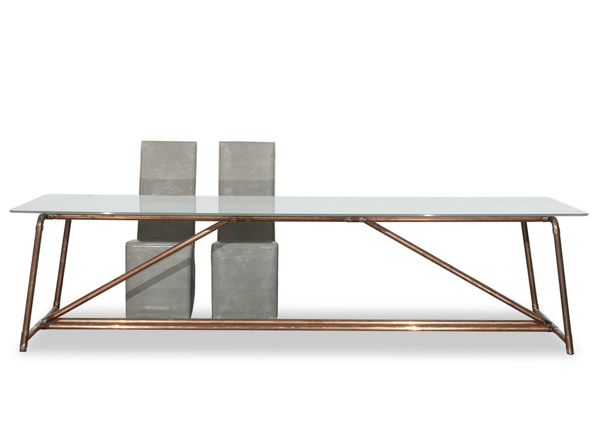 Tempered glass table BROOKLYN - BAXTER