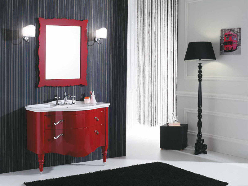 Lacquered vanity unit with drawers DECÒ D01 by LEGNOBAGNO