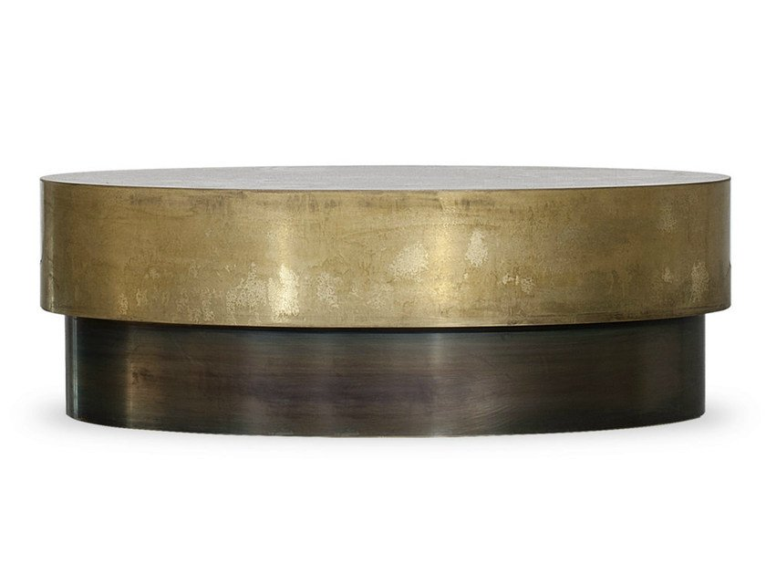 Low oval coffee table LOREN | Oval coffee table - BAXTER
