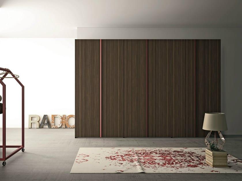 Oak wardrobe with folding doors EMOTION 14 - ANTA CUBO - Dall'Agnese