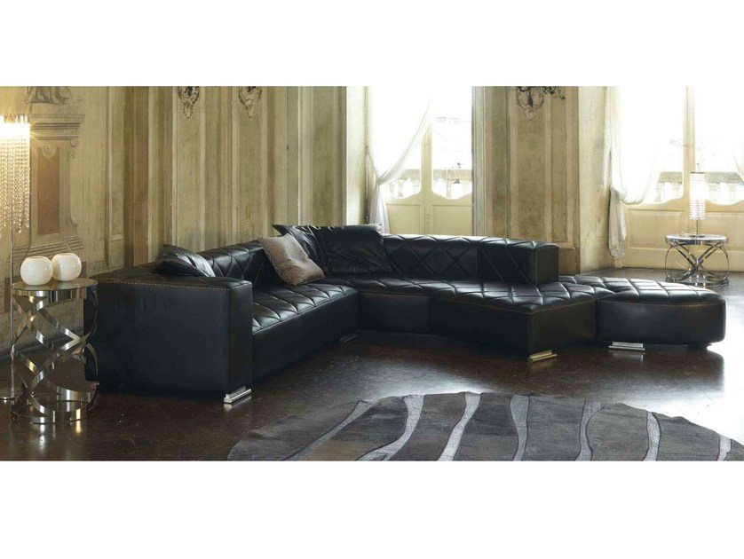 Corner leather sofa BEAUTY | Upholstered sofa - Formenti