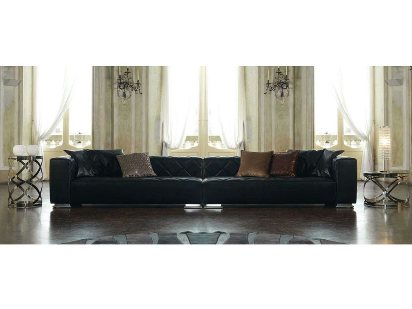 Sectional leather sofa BEAUTY | Leather sofa by Formenti