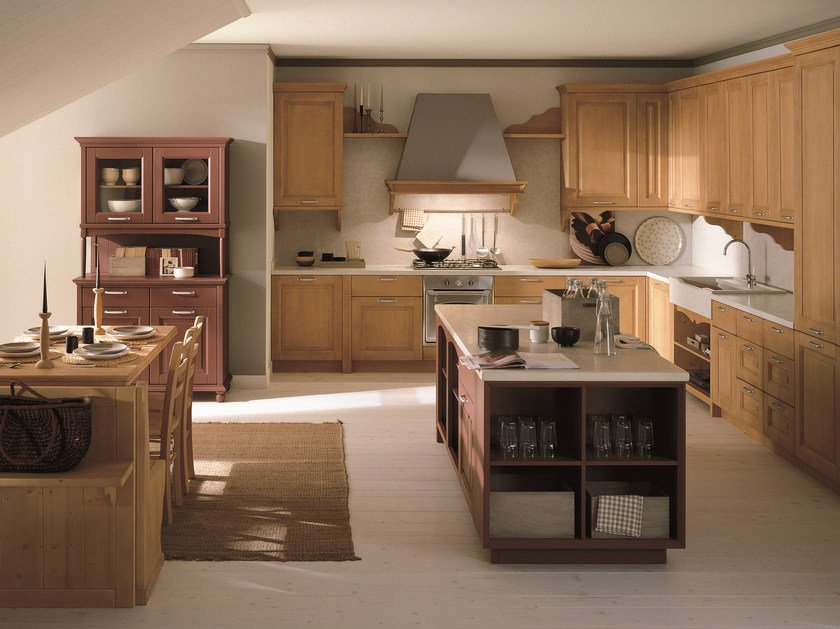 Spruce kitchen with island NUOVO MONDO N02 - Scandola Mobili