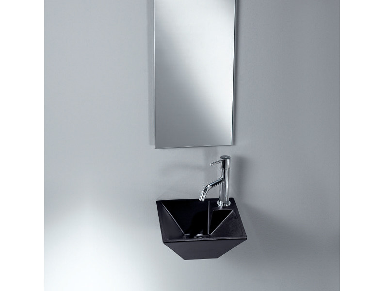 Wall-mounted handrinse basin PIRAMID by A. e T. Italia