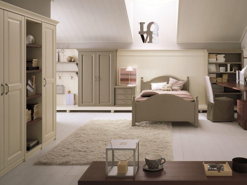 Spruce bedroom set NUOVO MONDO N13 by Scandola Mobili
