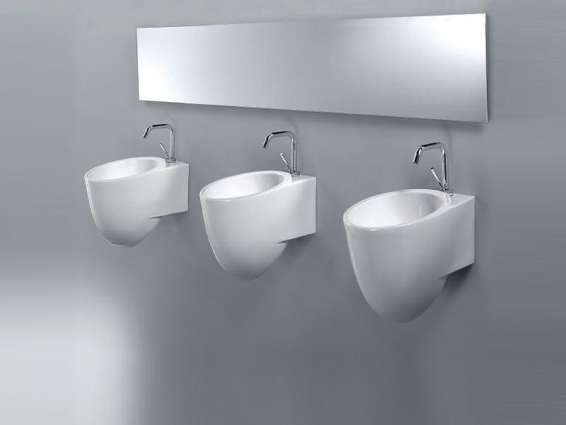 Wall-mounted handrinse basin BOTTLE by A. e T. Italia