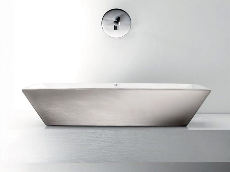 Rectangular washbasin PRISMA by A. e T. Italia