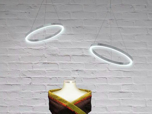 LED aluminium pendant lamp CIRCOLO TRIS - Sattler