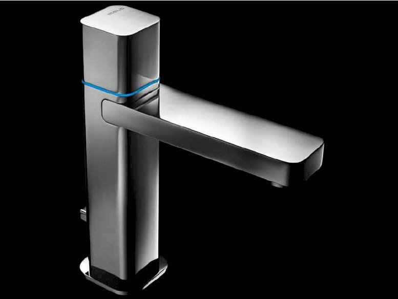 Chrome-plated countertop electronic washbasin mixer LOOP E | Washbasin mixer - Carlo Nobili Rubinetterie