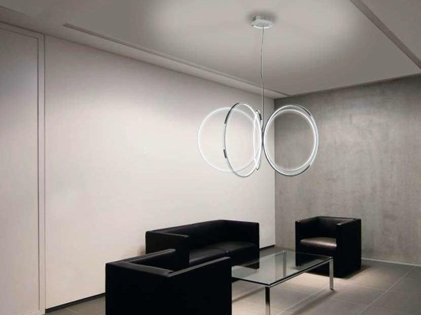 LED aluminium chandelier INIZIO - Sattler