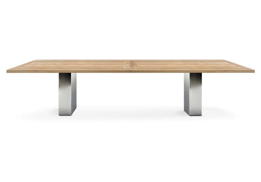 DOBLE  Tisch aus Teakholz By FueraDentro