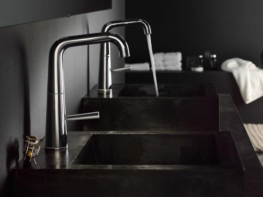 Chrome-plated single handle washbasin mixer with automatic pop-up waste LIKID | Washbasin mixer - Carlo Nobili Rubinetterie