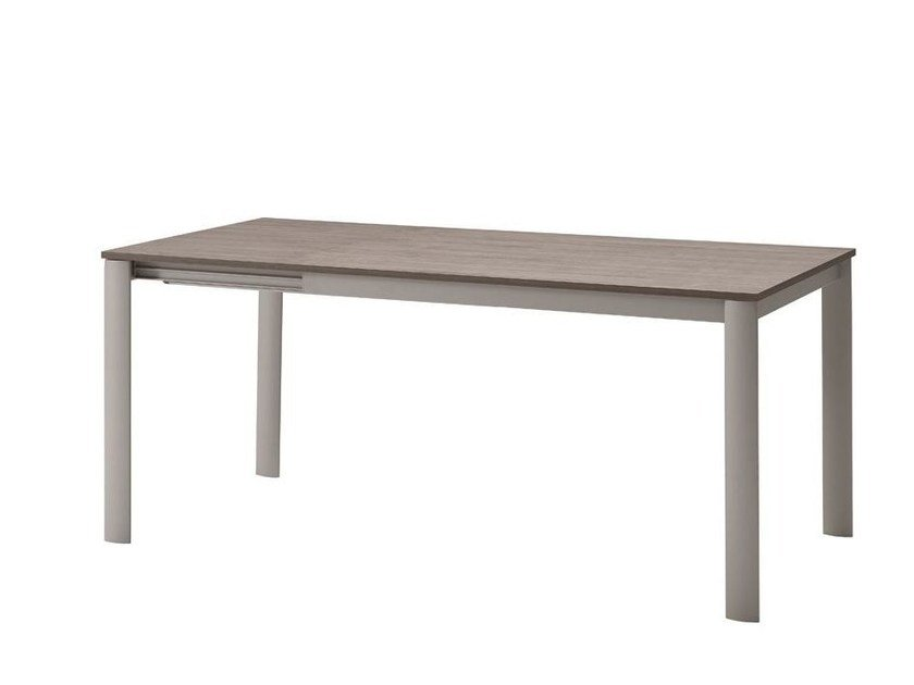 Extending steel and wood table BIKO | Extending table - Midj