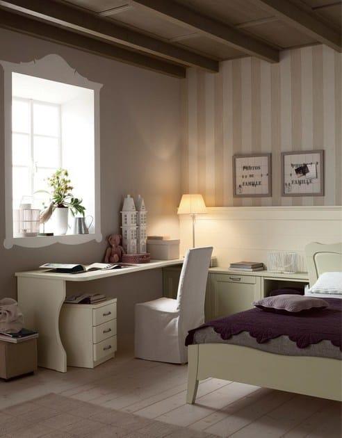 Camera da letto in legno massello NUOVO MONDO N12 - Scandola Mobili