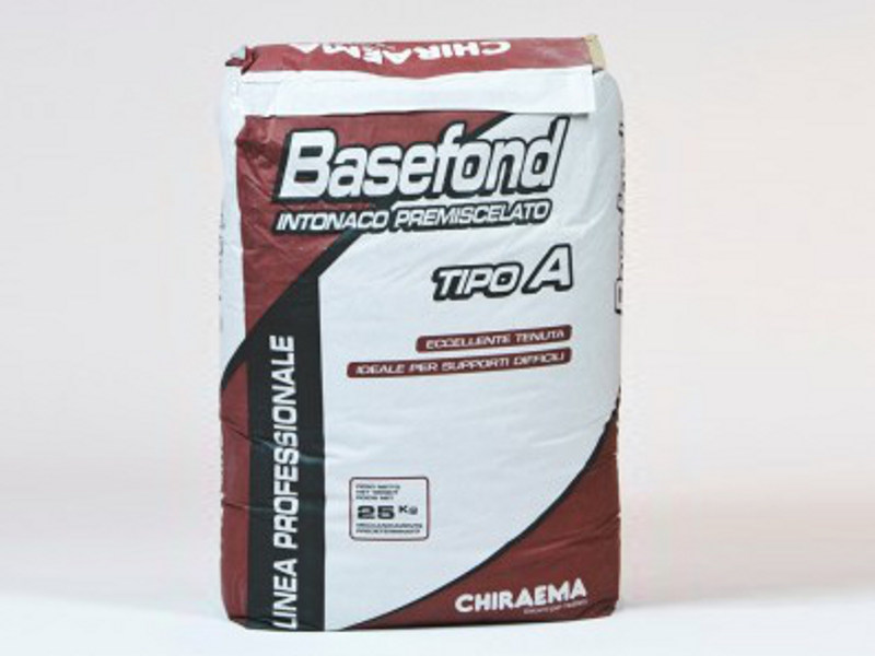 Fibre-reinforced and special plaster BASEFOND A - F - CHIRAEMA