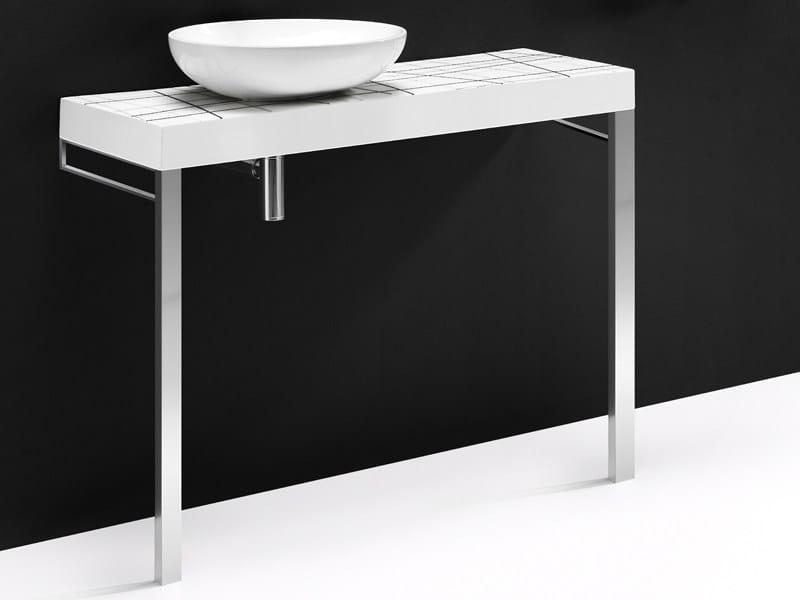 Single ceramic washbasin countertop FLOW CER - A. e T. Italia