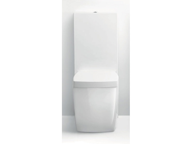 Close coupled ceramic toilet WALL ONE - A. e T. Italia