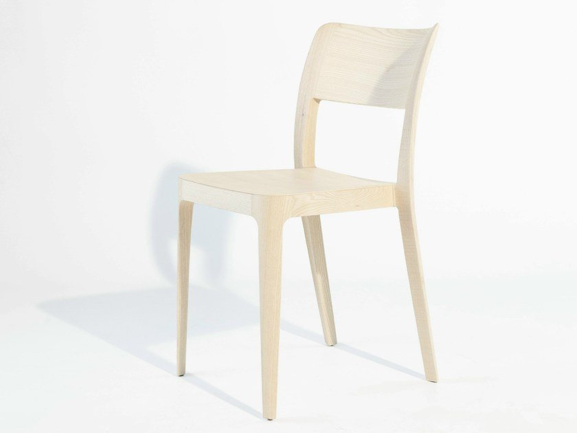 Stackable wooden restaurant chair NENÈ LG | Chair - Midj