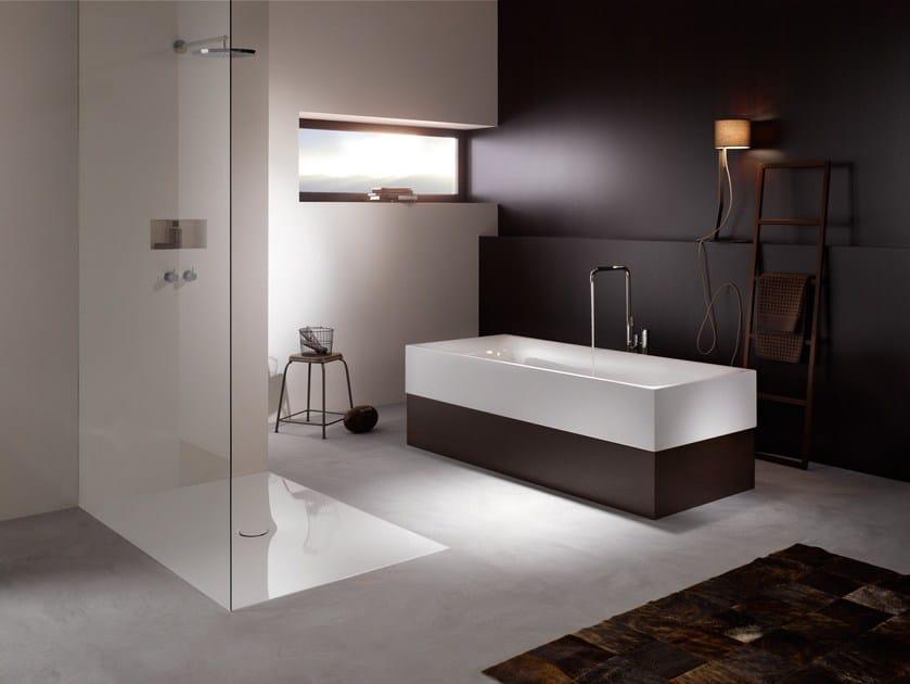 Semi-inset enamelled steel bathtub BETTELUX HIGHLINE - Bette