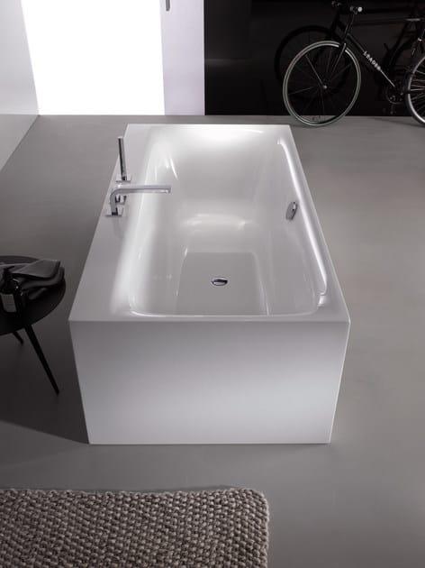Vasca da bagno centro stanza in acciaio smaltato bettelux silhouette side bette - Vasche da bagno in acciaio smaltato ...