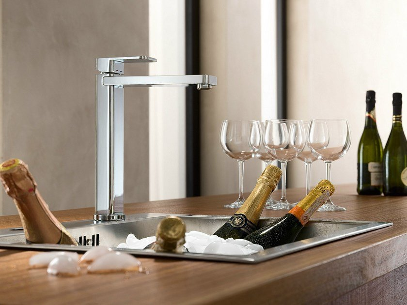 Chrome-plated 1 hole kitchen mixer tap LOOP | Kitchen mixer tap - Carlo Nobili Rubinetterie