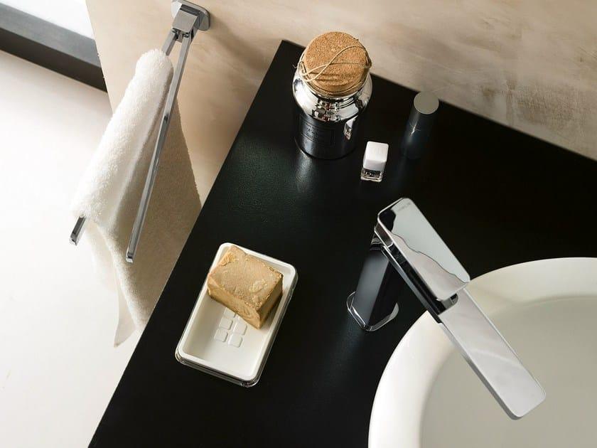Chrome-plated single handle washbasin mixer with automatic pop-up waste LOOP   Washbasin mixer with automatic pop-up waste - Carlo Nobili Rubinetterie