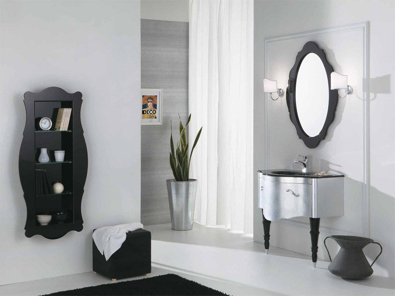 Lacquered vanity unit with drawers DECÒ D07 - LEGNOBAGNO