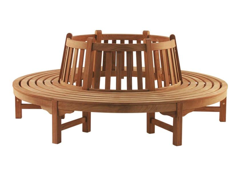 Teak garden bench CIRCLE - Tectona