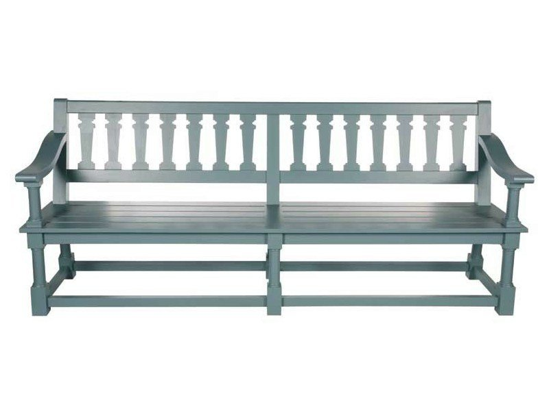 Wooden garden bench with armrests MARLY - Tectona