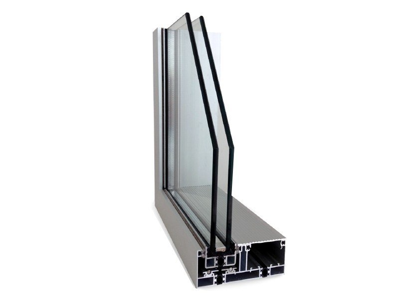 Aluminium thermal break window MINIMAL FRAMES - PFT HEVO