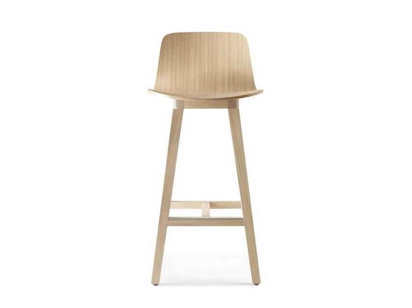 Wooden counter stool with footrest KUSKOA | Counter stool - ALKI