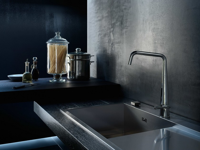 Chrome-plated kitchen mixer tap with swivel spout LIKID | Kitchen mixer tap - Carlo Nobili Rubinetterie