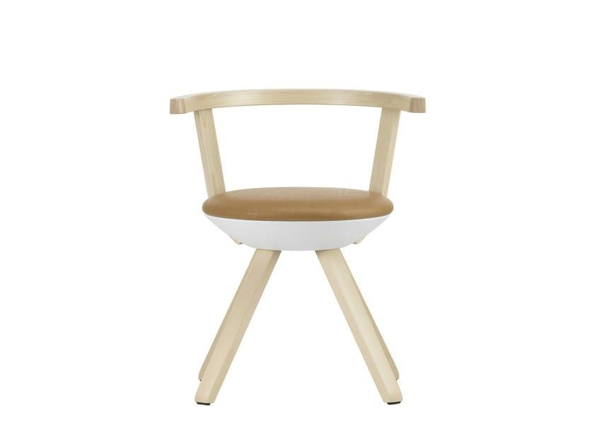 Contemporary style upholstered birch chair RIVAL KG001 - Artek