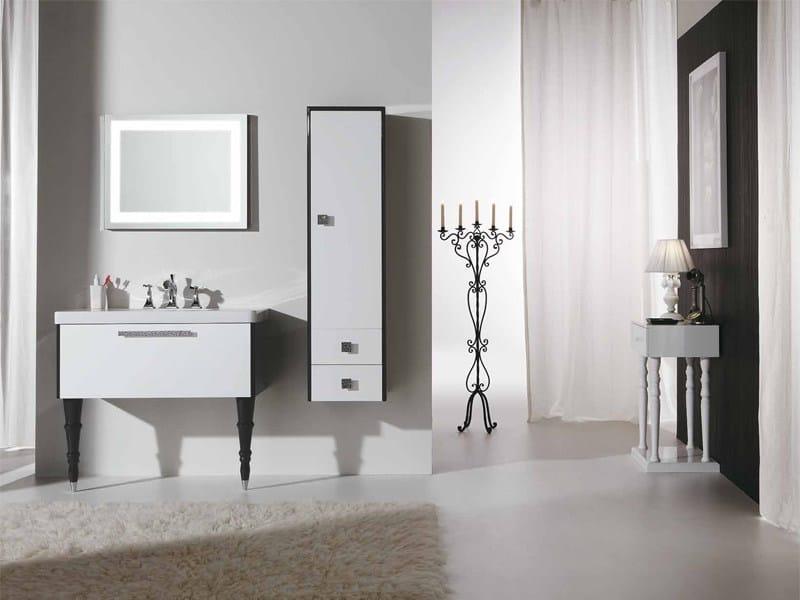 Lacquered vanity unit with drawers DECÒ D14 - LEGNOBAGNO