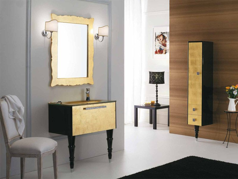 Lacquered vanity unit with drawers DECÒ D16 - LEGNOBAGNO