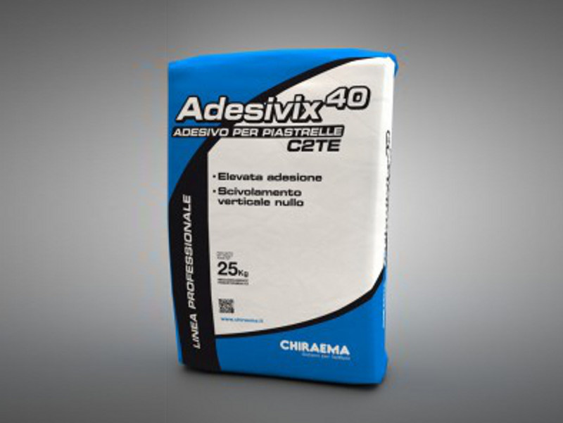 Cement adhesive for flooring ADESIVIX 40 by CHIRAEMA