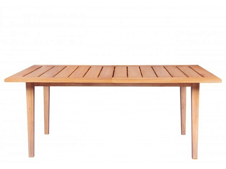 Extending rectangular teak garden table EXETER | Extending table by Tectona