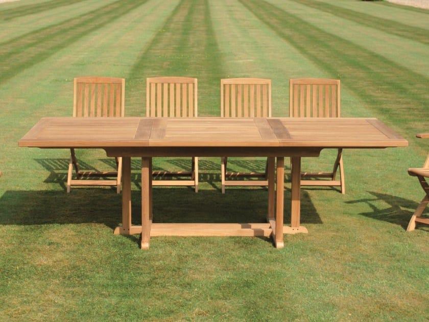 Extending rectangular teak garden table ARLINGTON | Extending table - Tectona
