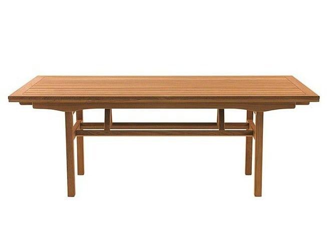 Extending rectangular teak garden table MADISON | Extending table - Tectona