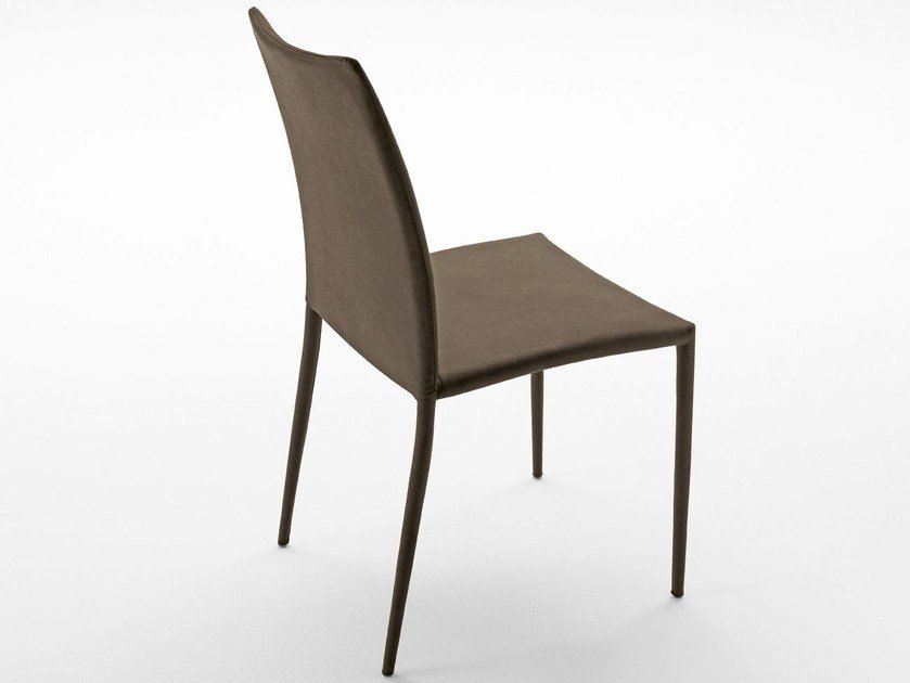 Upholstered tanned leather chair DELFINA SR | Chair - Midj