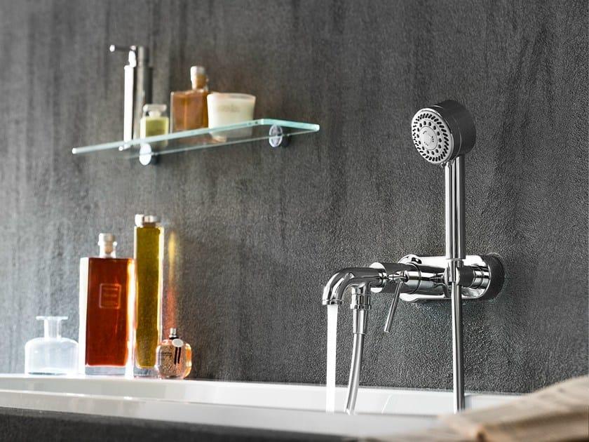 Wall-mounted chrome-plated single handle bathtub mixer PLUS | Wall-mounted bathtub mixer - Carlo Nobili Rubinetterie