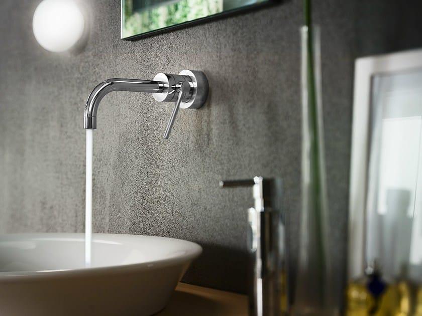 Wall-mounted chrome-plated single handle washbasin mixer PLUS | Wall-mounted washbasin mixer - Carlo Nobili Rubinetterie