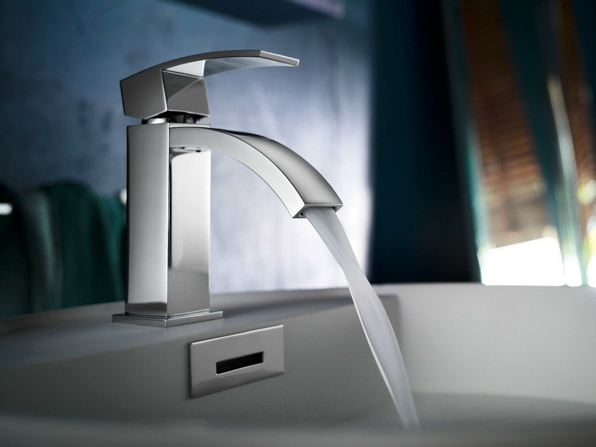 Chrome-plated washbasin mixer with automatic pop-up waste RAY | Washbasin mixer - Carlo Nobili Rubinetterie